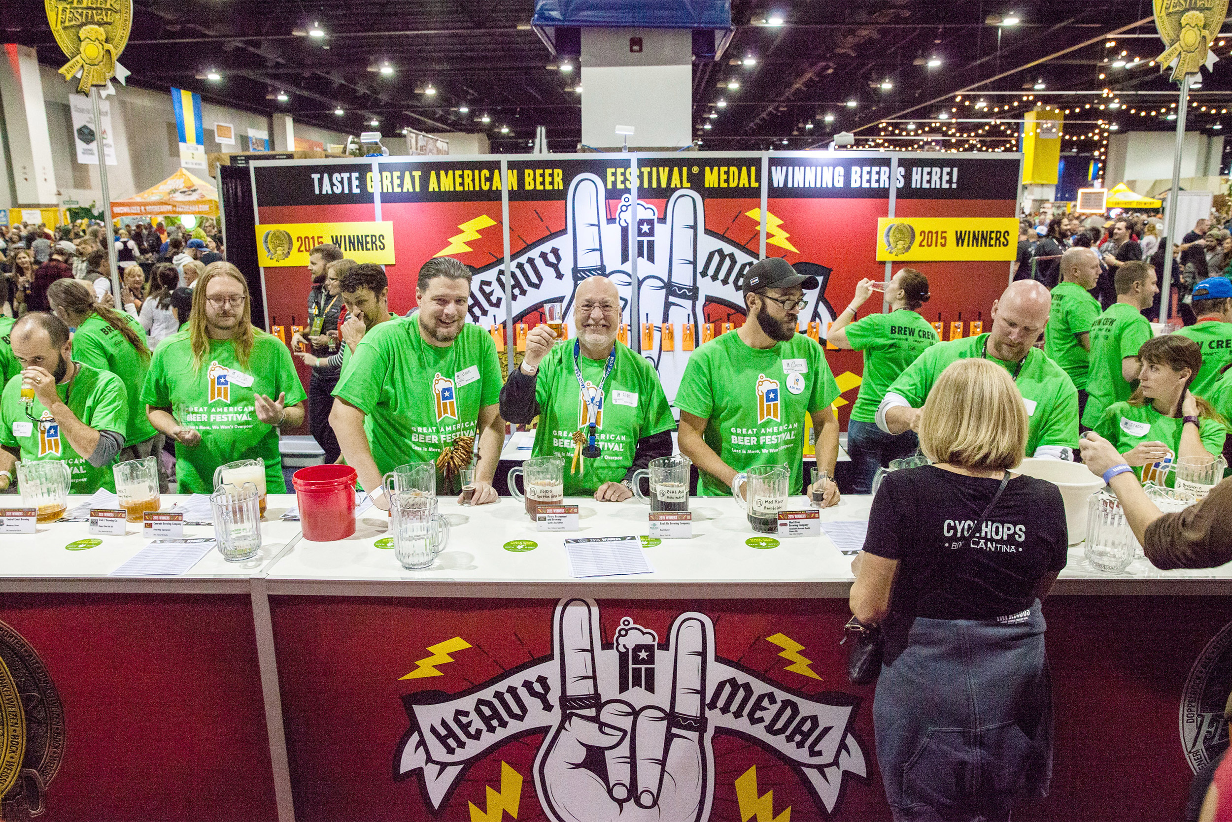 Heavy Medal booth at GABF -Photo © Brewers Association