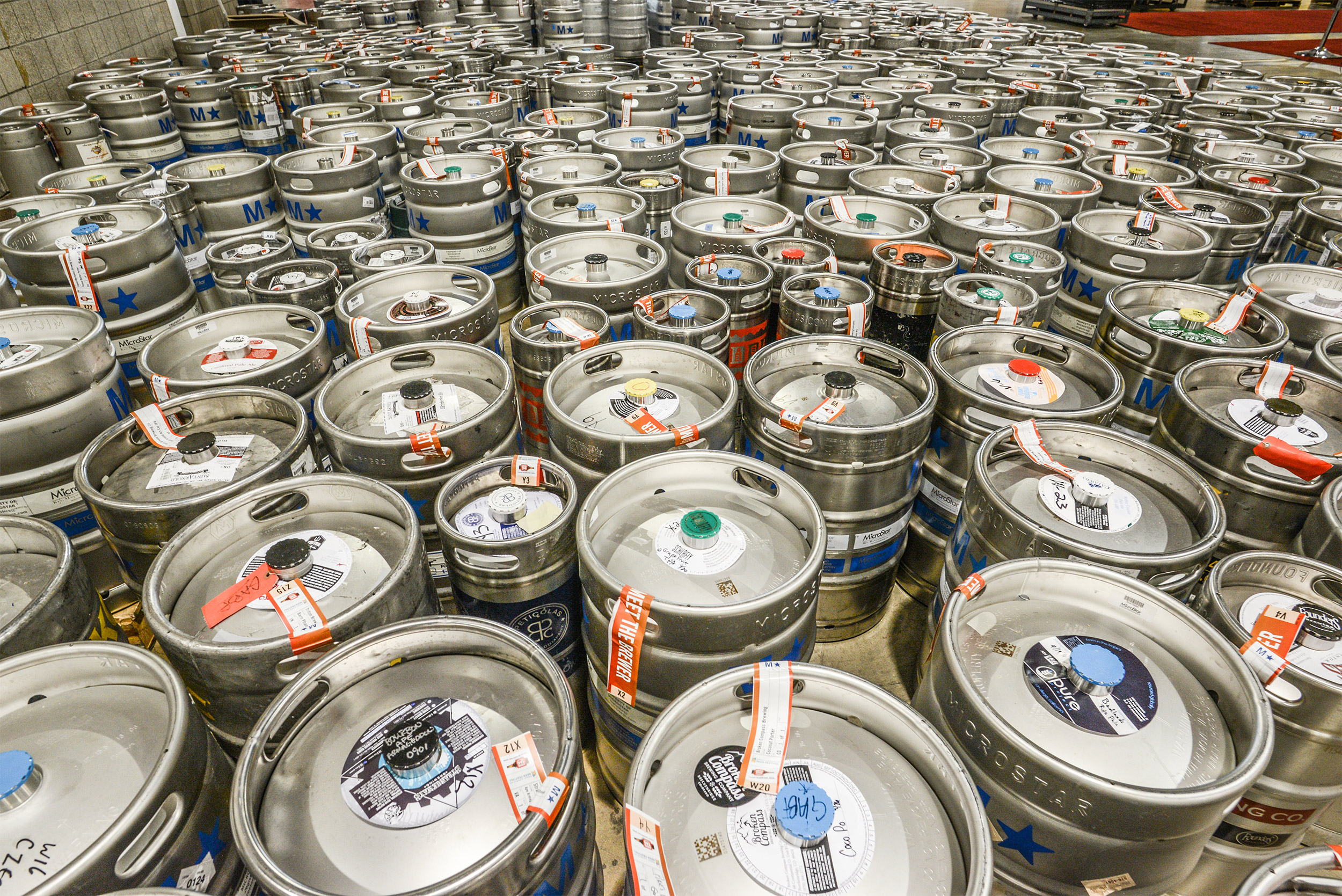 So. Many. Kegs. Photo © Brewers Association