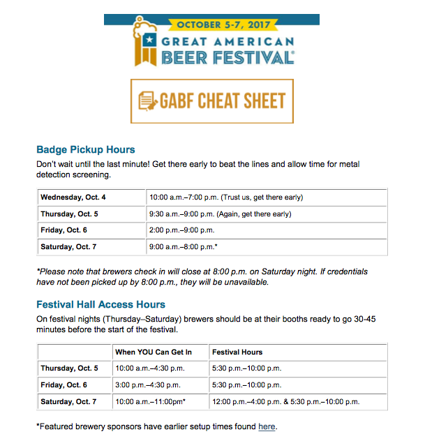 2017 Great American Beer Festival Cheat Sheet